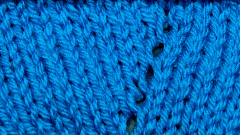 Example of the Afterthought Yarn Over
