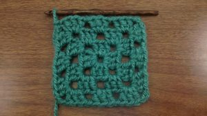 Example of the Traditional Basic Granny Square (3 Rounds)