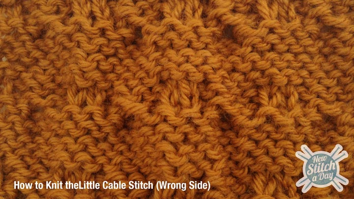 Example of How to Knit the Little Cable Stitch