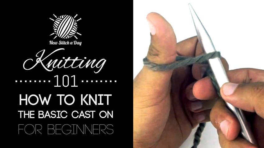 Knitting 101: How to Knit the Basic Cast On for Beginners