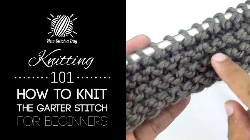 Knitting 101: How to Knit the Garter Stitch for Beginners