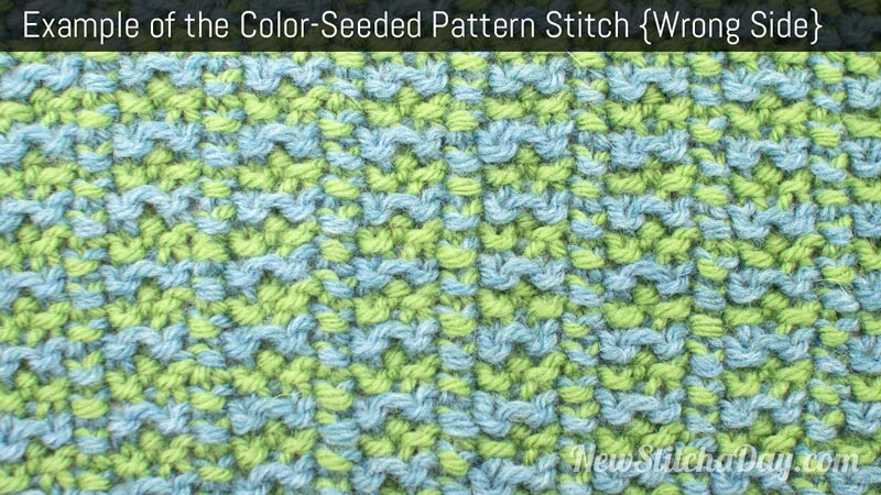 Example of the Color-Seeded Pattern Stitch. (Wrong Side)