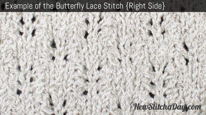 Example of the Butterfly Lace Stitch. (Right Side)