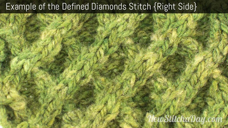 Example of the Defined Diamonds Stitch. (Right Side)