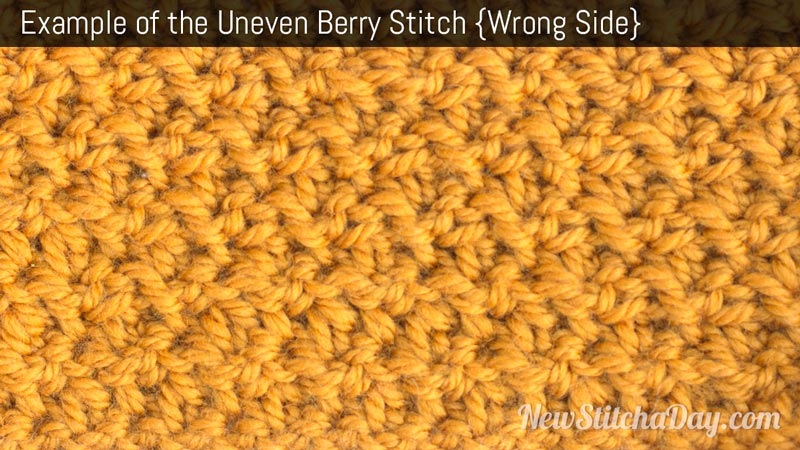 Example of the Uneven Berry Stitch. (Wrong Stitch)