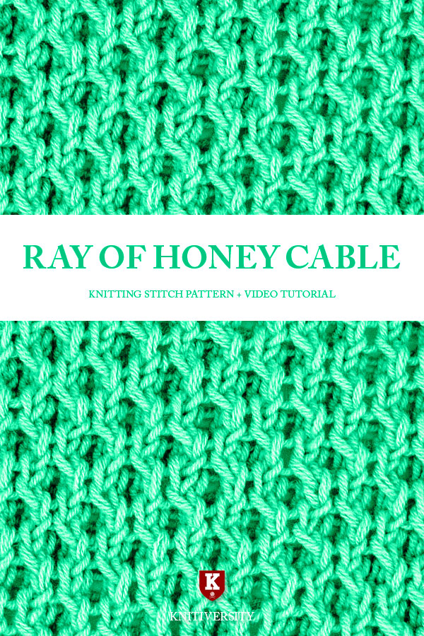 Ray of Honey Cable Stitch Knitting Pattern Tutorial