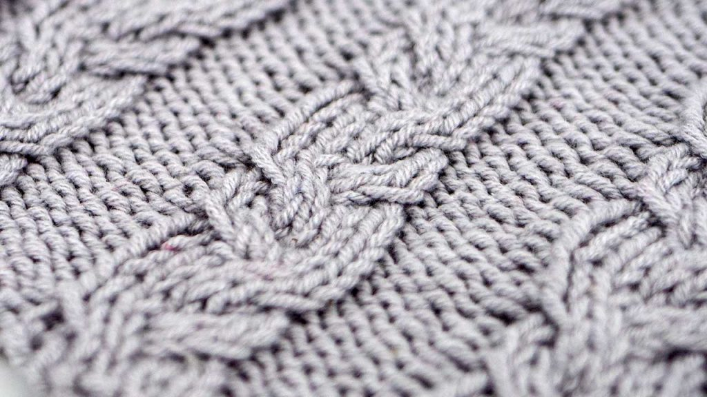 Close Up of the Garden Path Cable Stitch Knitting Pattern