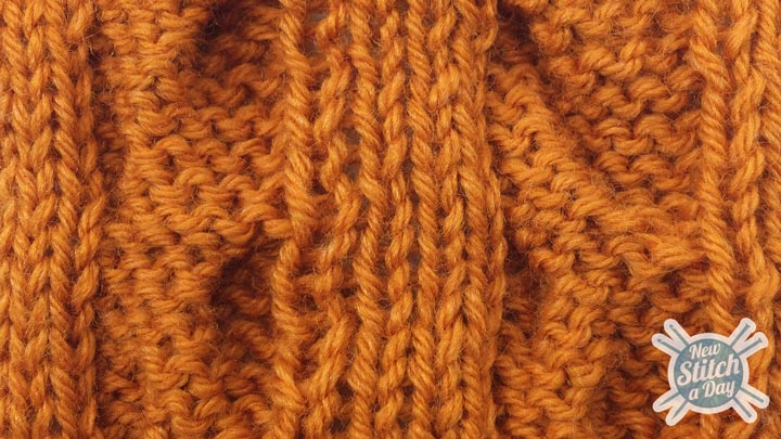 Example of the Sweep Cable Stitch wrong side
