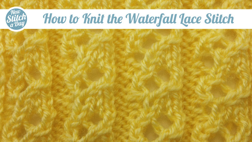 The Waterfall Lace Stitch Knitting Stitch 81