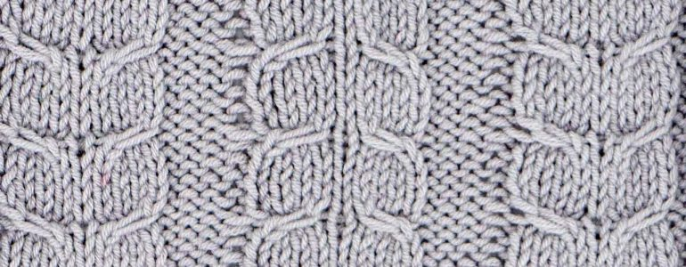 Fishtail Cable Stitch Knitting Pattern (Right Side)