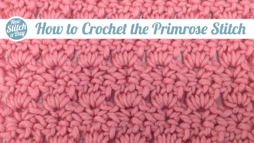 48557d6e3 The Primrose Stitch    Crochet    New Stitch a Day