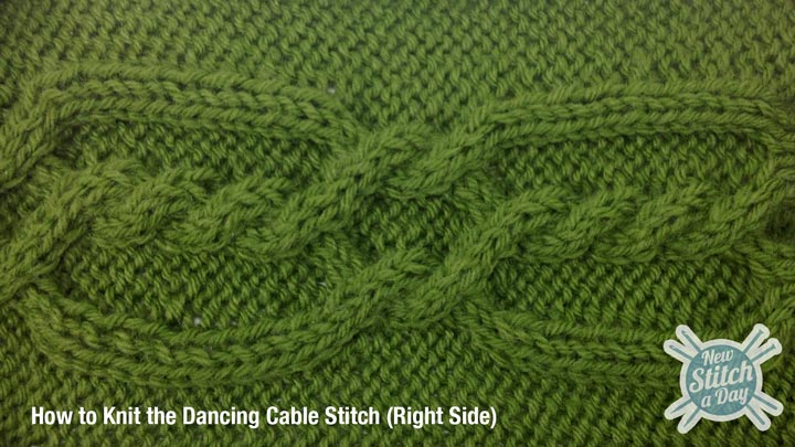 Example of the Dancing Cable Stitch Right Side