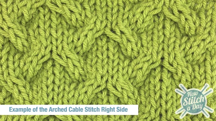 Example of the Arched Cable Stitch Right Side