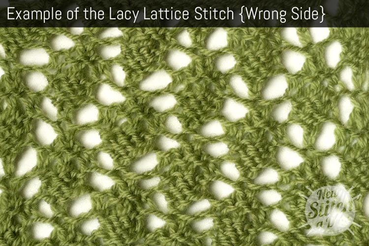Example of the Lacy Lattice Stitch {Wrong Side}
