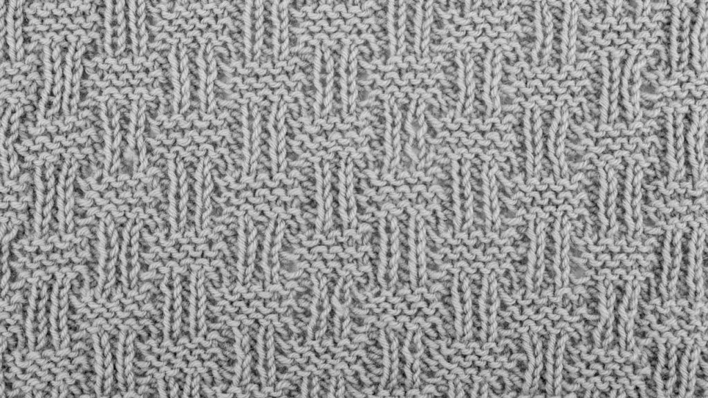 Shingle Stitch Knitting Pattern (Wrong Side)