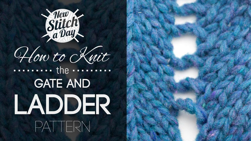 How to Knit the Gate and Ladder Pattern