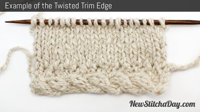 Example of the Twisted Trim Edge