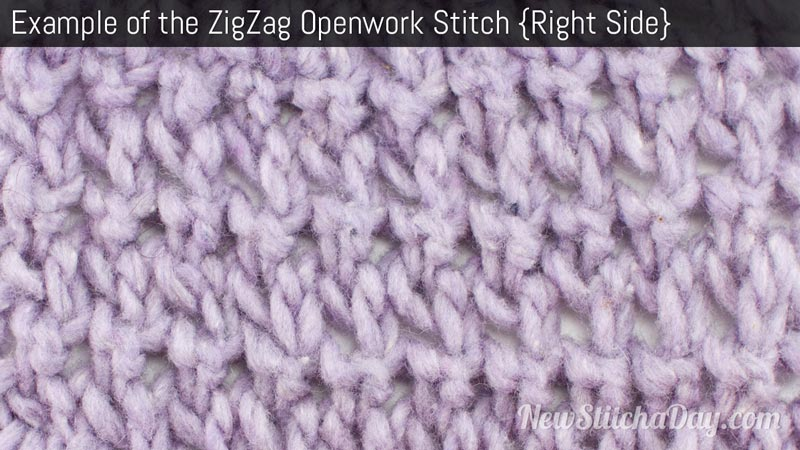 Example of the Zigzag Openwork Stitch Right Side