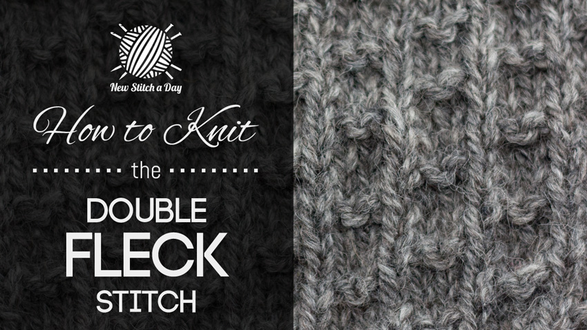 How to Knit the Double Fleck Stitch