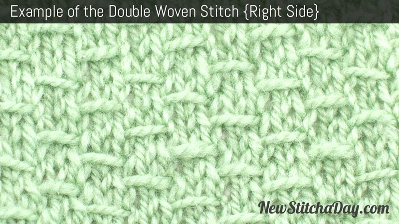 Example of the Double Woven Stitch Right Side