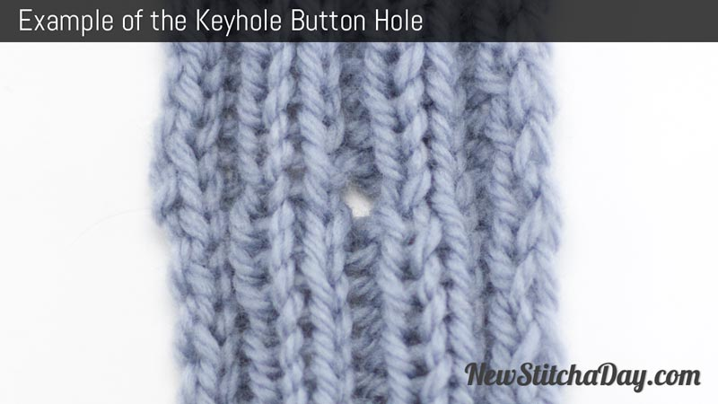 Example of the Keyhole Button Hole