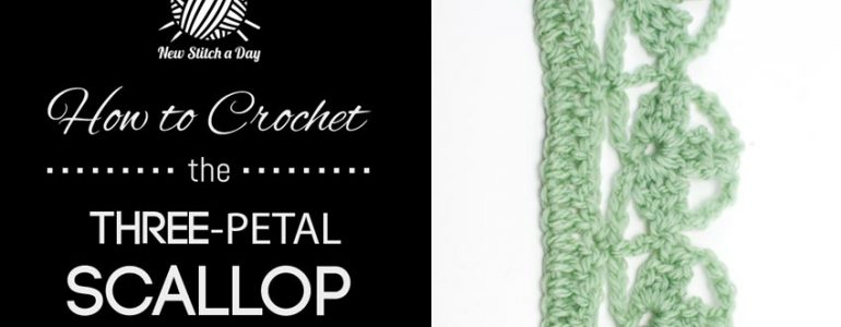How to Crochet the Three-Petal Scallop Edging