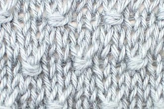 Estonian Button Knitting Stitch by Knitiversity