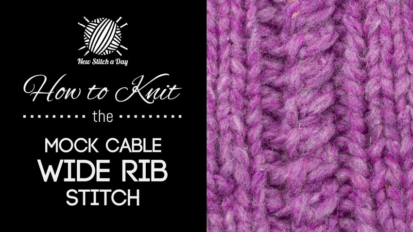 How to Knit the Mock Cable Wide Stitch
