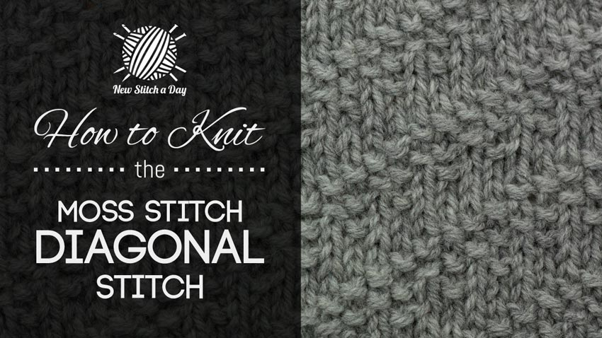The Moss Stitch Diagonal Stitch Knitting Stitch 233 New