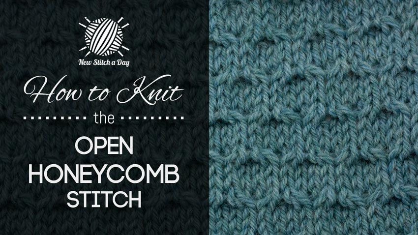 How to Knit the Open Honeycomb Stitch