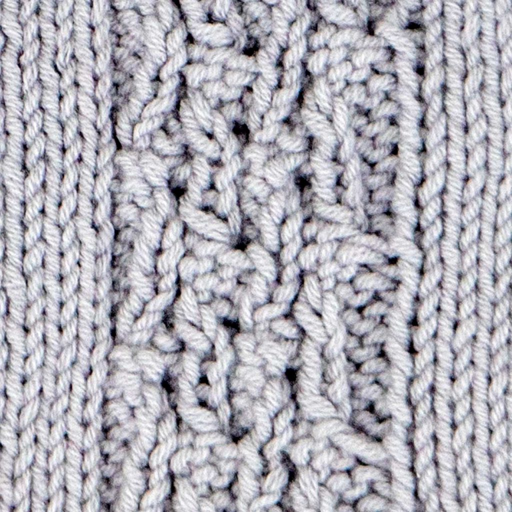 Loose Five Rib Braid Cable Stitch Knitting Pattern (Wrong Side)