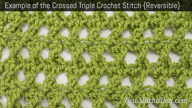 Example of the Crossed Triple Crochet Stitch. (Reversible)