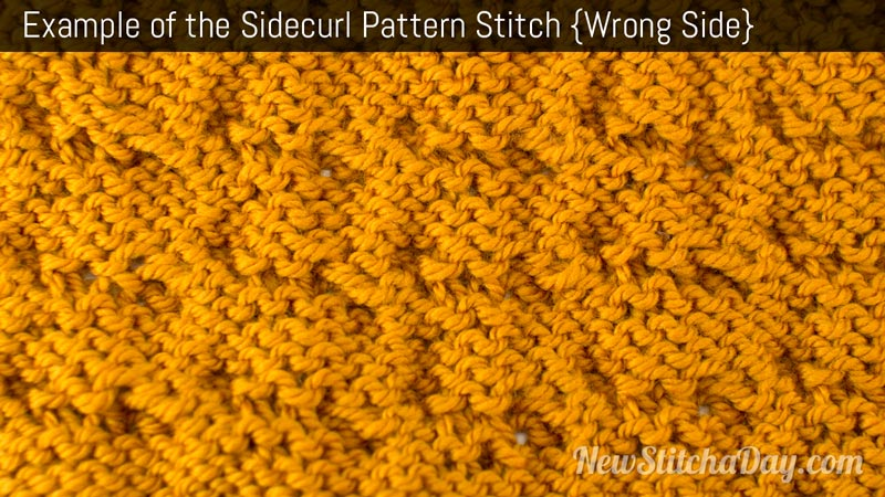 Example of the Sidecurl Pattern Stitch. (Wrong Side)