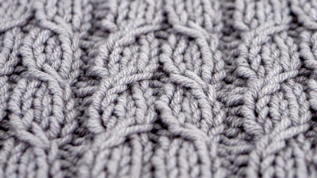 Detail of Alternating Twists Knitting Pattern