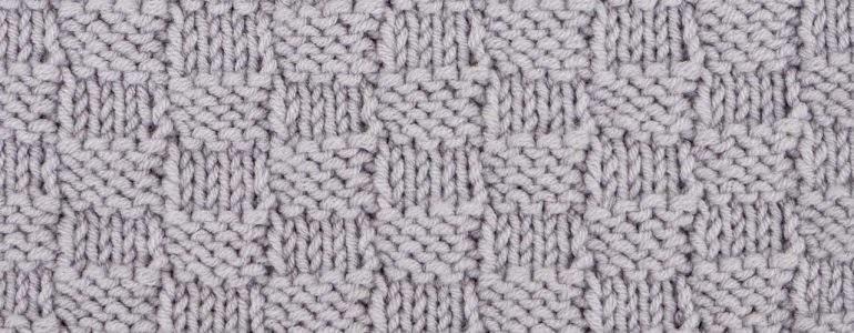 Checkerboard Stitch Knitting Pattern (Reversible)