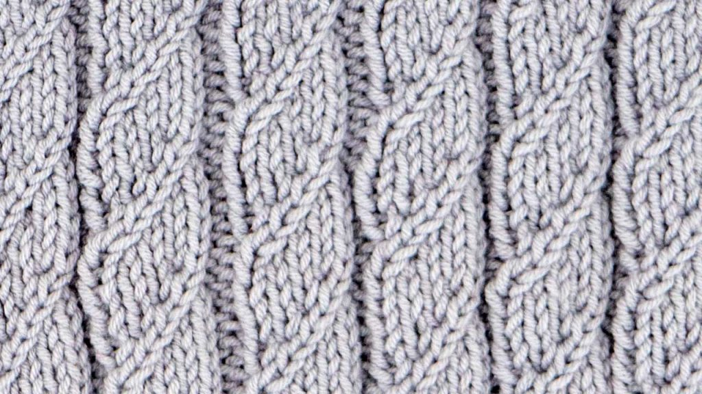 Pillar Spiral Cable Stitch Knitting Pattern (Right Side)
