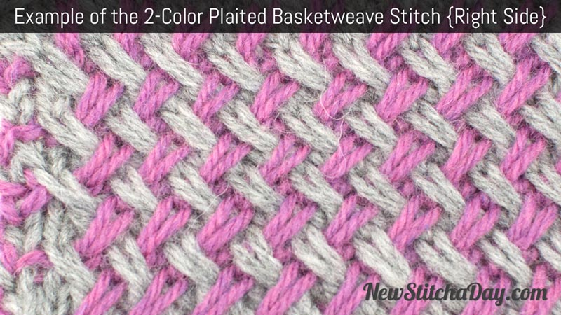 Example of the Two Color Basketweave Stitch. (Right Side)