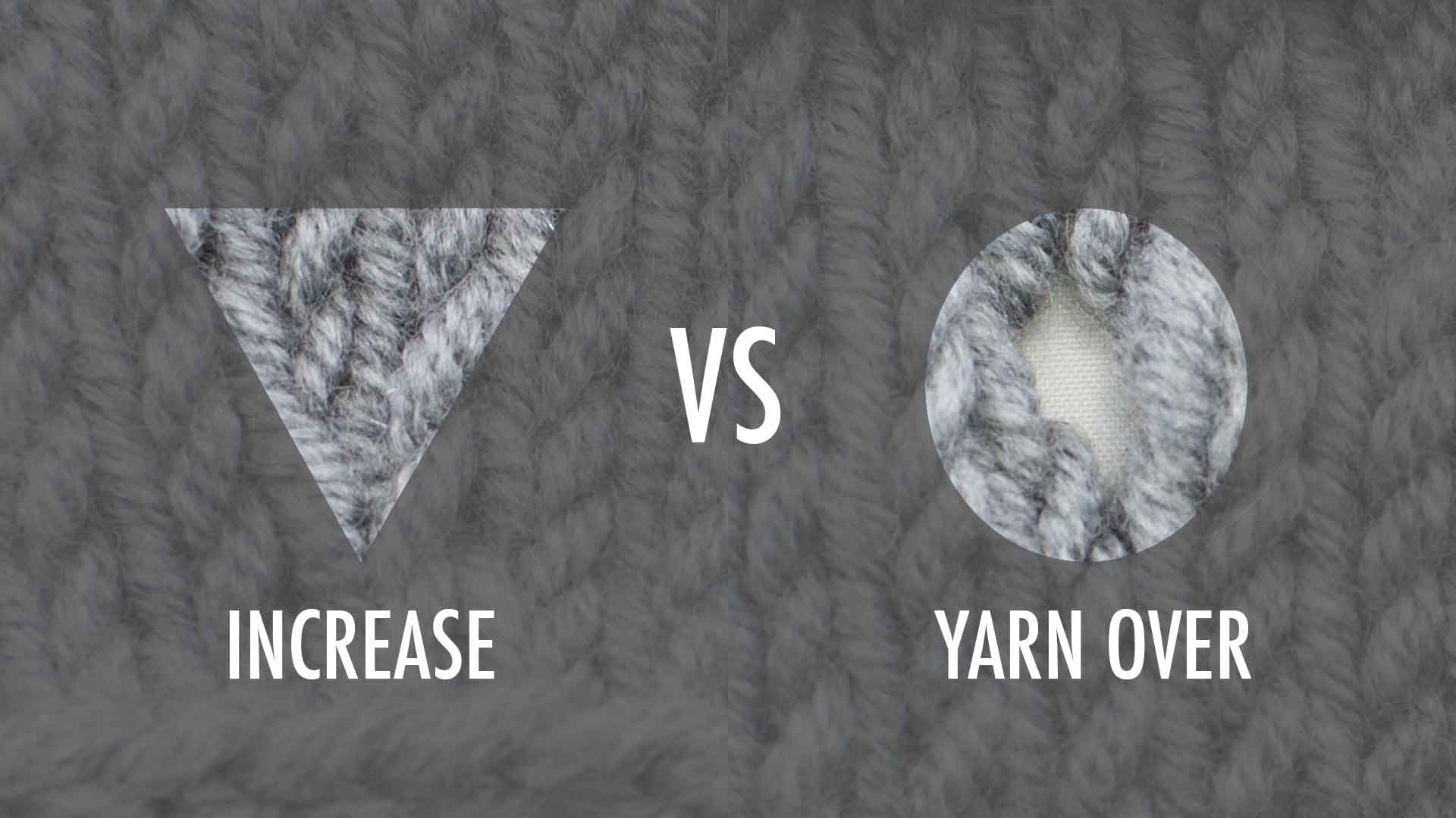 Increases and Yarn Overs Compared